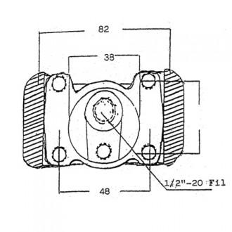 Forklift Brake Cylinder Model S6305