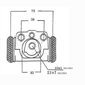 Forklift Brake Cylinder Model S6534