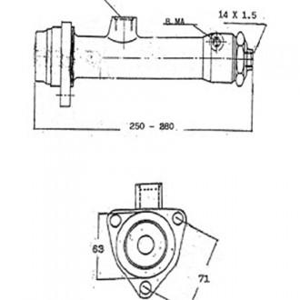 Forklift Master Cylinder S5337 Long 280
