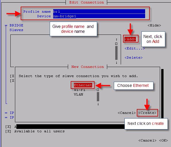 configure network bridge