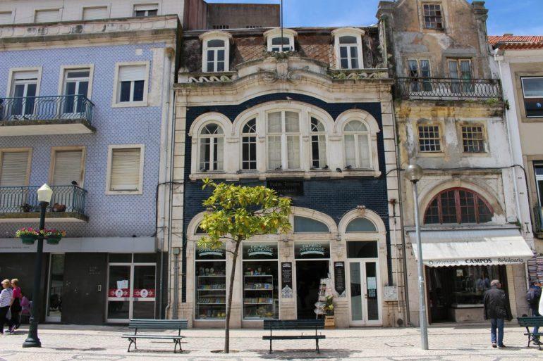 Aveiro colorful houses Portugal