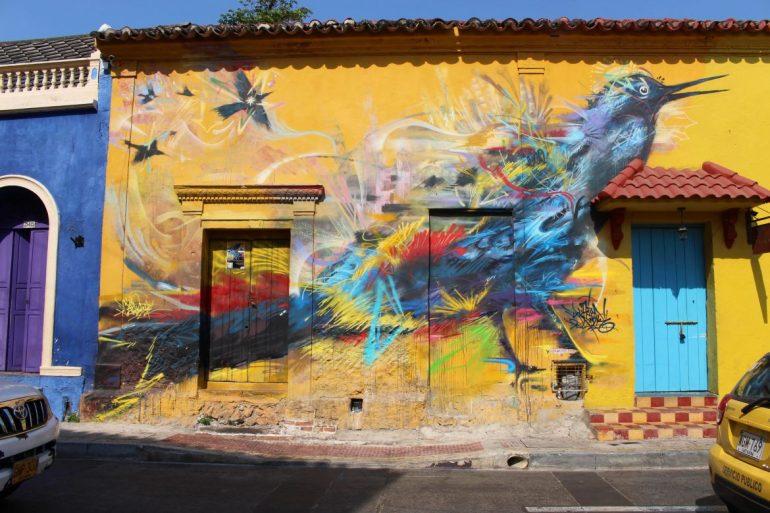 Street art Getsemani Colombia
