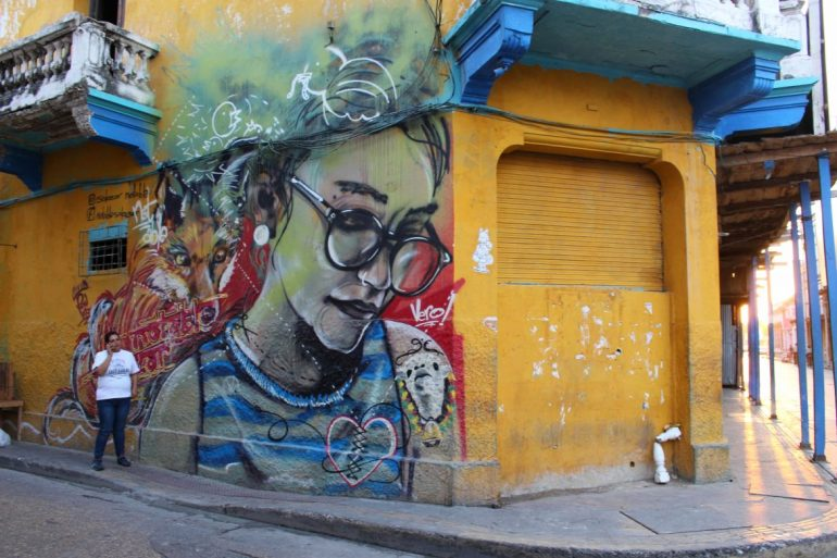 Street art in Getsemani Colombia