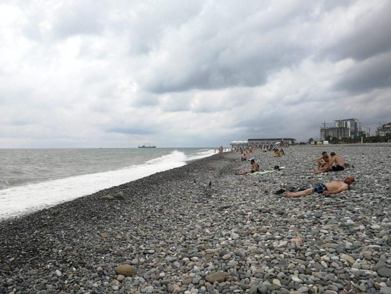 Batumi strand wereldreis
