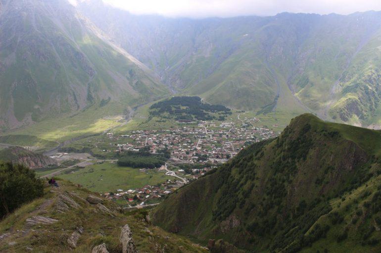 Kazbegi hike uitzicht