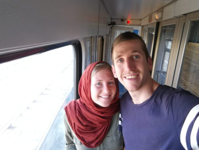 Thieme en Esther trein Iran wereldreis
