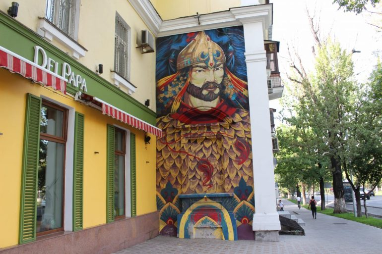 Street art Almaty wereldreis