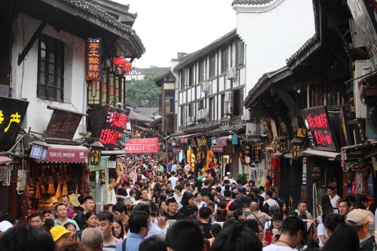 Chongqing drukte