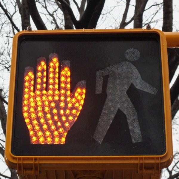 Walk Community Sign Crosswalk