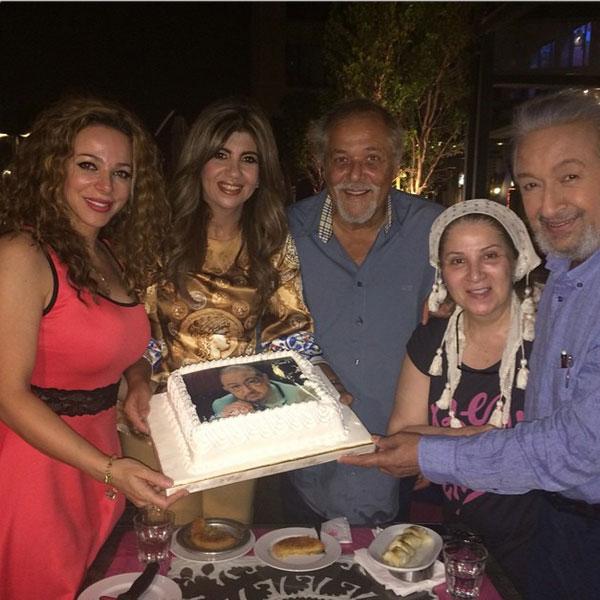 جولولي بوسي تحتفل بشفاء نور الشريف في حضور محمود عبدالعزيز