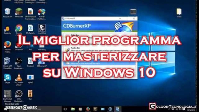 programma windows 10 per masterizzare