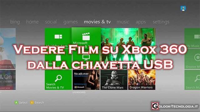 vedere film da chiavetta usb su xbox 360