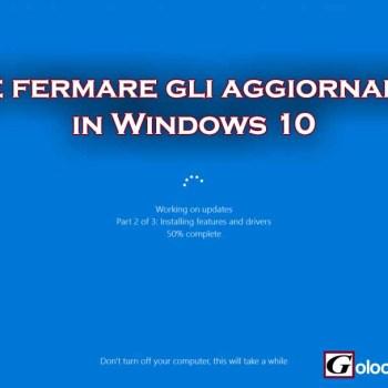 windows 10 come fermare gli aggiornamenti