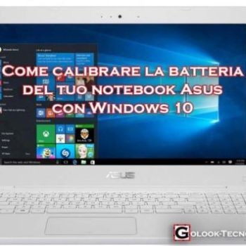 calibrare batteria asus windows 10