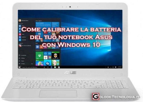 calibrare batteria asus windows 10