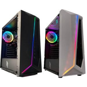 GOLOOK • PC Desktop Gaming RGB • Intel i5 • 16GB • SSD 240GB • WiFi • Scheda Video Dedicata GT710 2GB • Windows 10 Pro X64 • Computer Fisso Assemblato • Ventole Illuminate (Copia)