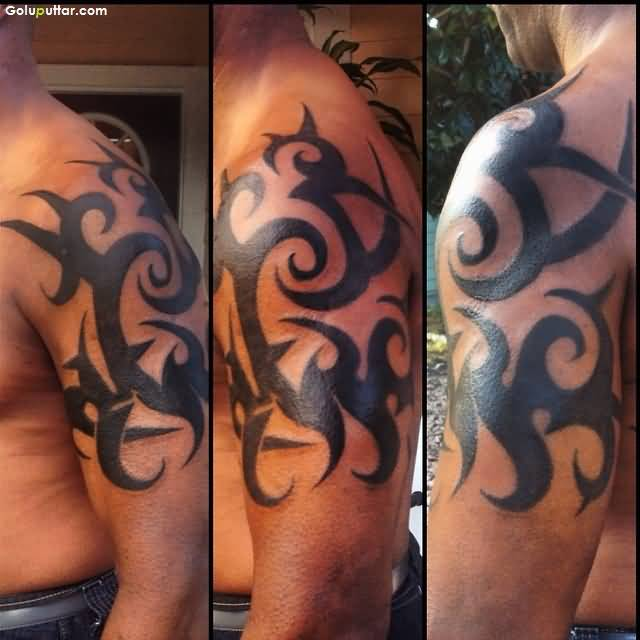 Upper Arm Armband Tribal Tattoos For Men