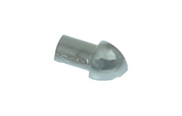 Hörndel kvartsrund alu silvereloxerad blank