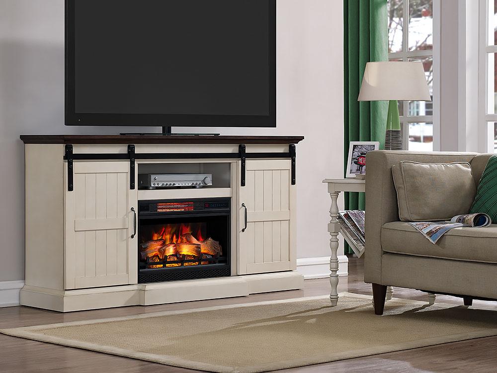 Majik  Barn Door Media Mantle With Fireplace  Rent To Own Furniture in Pennsylvania