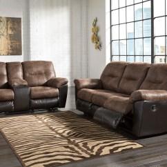 Marlow Reclining Sofa Loveseat And Chair Set Caramel Leather Decor Majik Follett Coffee