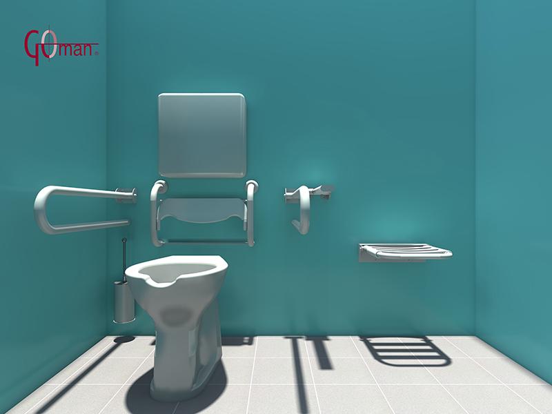 Diseo DWG en 3D de baos para minusvalidos  Goman