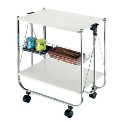 Folding Kitchen Cart Black Rug Foldable Trolley Service Description