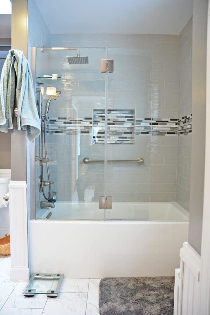 Farmhouse Contemporary Bath Design  Mason  McDaniels