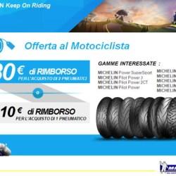 Offerta Gomme Moto Michelin: Fino a 30 euro di rimborso!!!