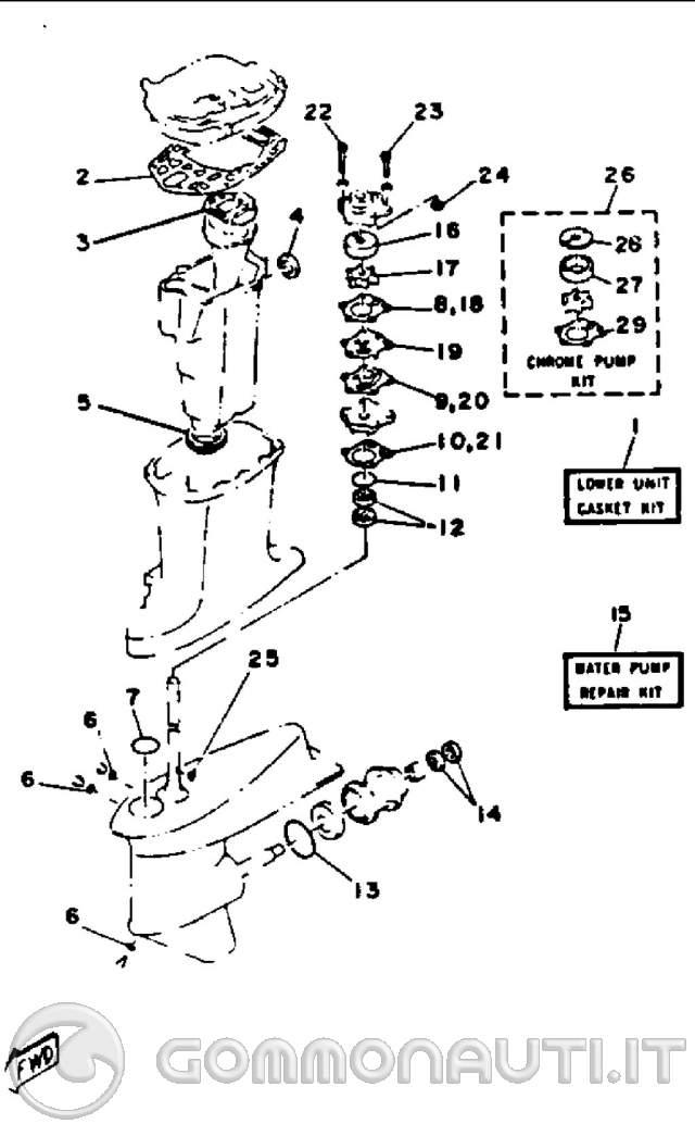Yamaha 703 Del Schaltplan