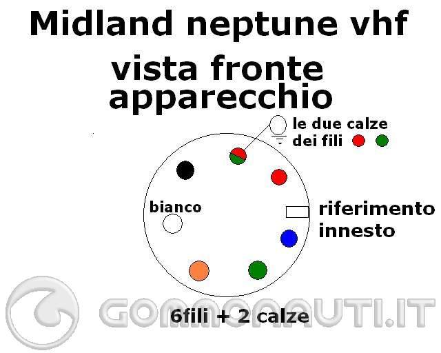 CONNETTORE MICROFONICO MIDLAND NEPTUNE VHF MARINE