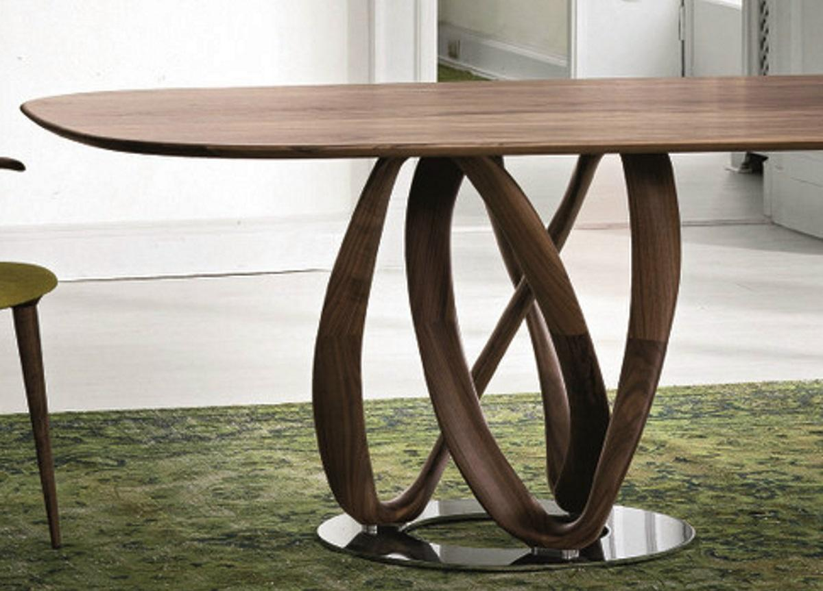 porada infinity ovale dining table