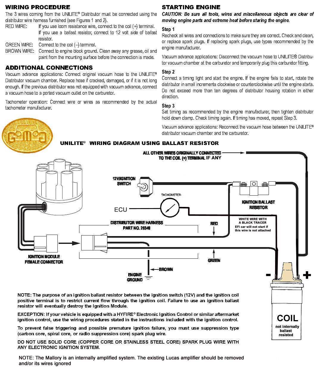 mallory unilite wiring diagram whirlpool gas dryer motor magnetic breakerless library