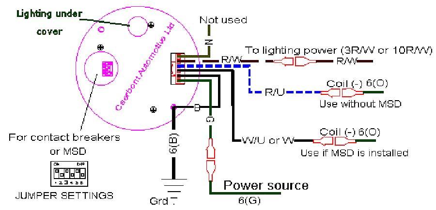 1969 camaro tachometer wiring