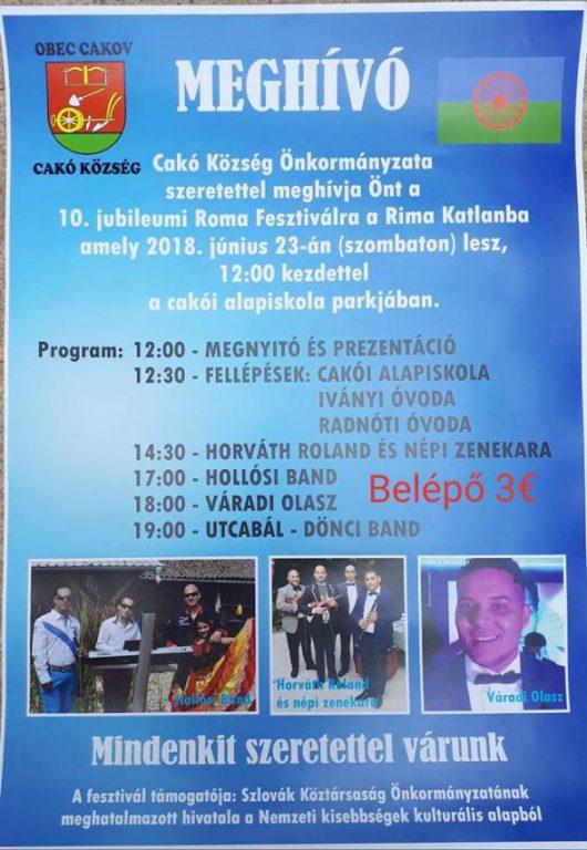 Cakói roma fesztivál