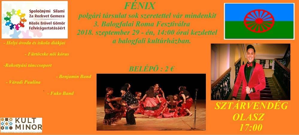 3. Balogfalai Roma Fesztivál