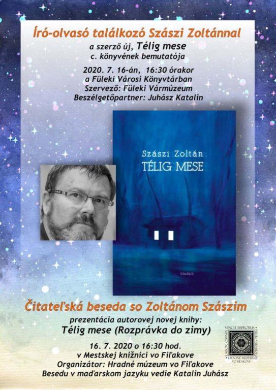 """Szászi Zoltán """"Télig mese"""" c. könyvének bemutatója Füleken"""