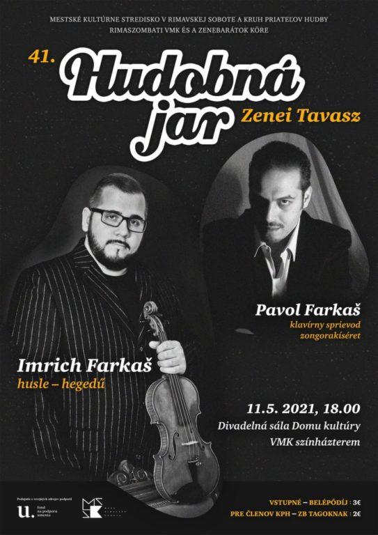 41. Zenei Tavasz Rimaszombatban - Farkas Imre hegedűművész koncertje