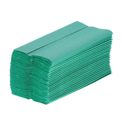 C Fold Paper Hand Towels Green 1ply 2640  Gompels HealthCare