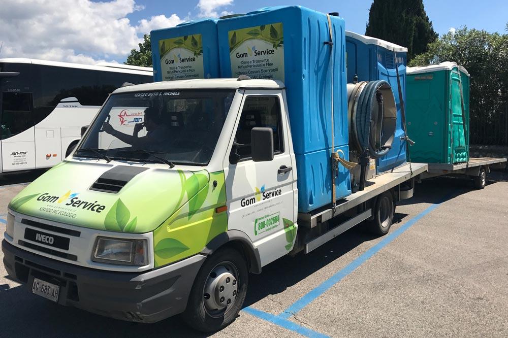 Noleggio Wc mobili per cantieri a Cassino e provincia di