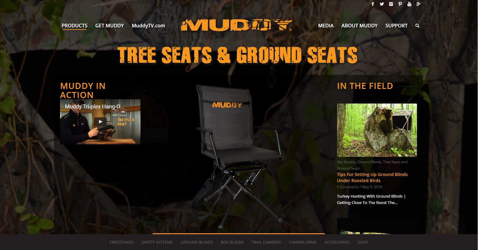 Muddy Outdoors  Tree Seats and Ground Seats  Muddy Outdoors