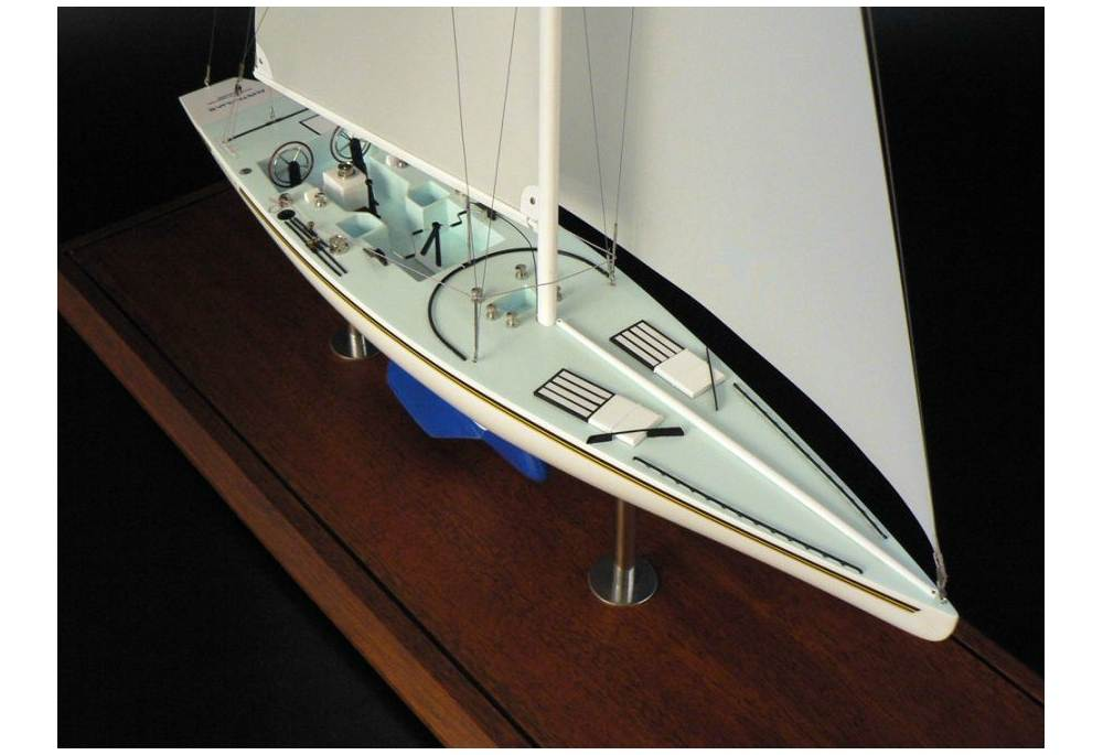 Americas Cup Winner Australia II 1983 Sailboat Scaled Model