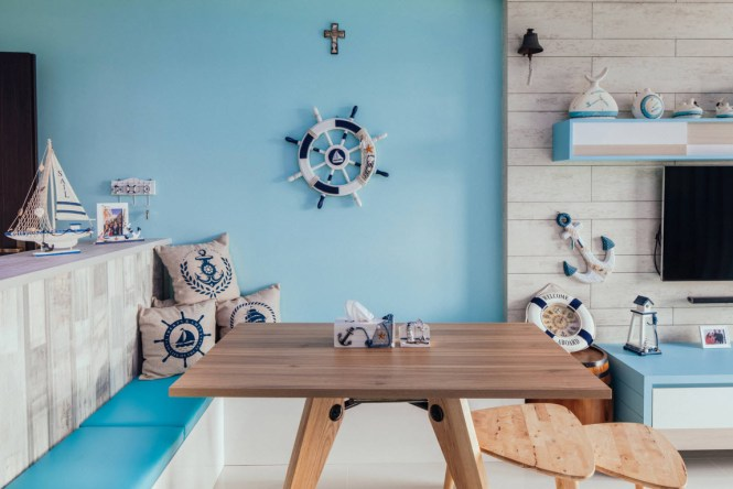 Charming Living Room Paints Nautical Decor Sets