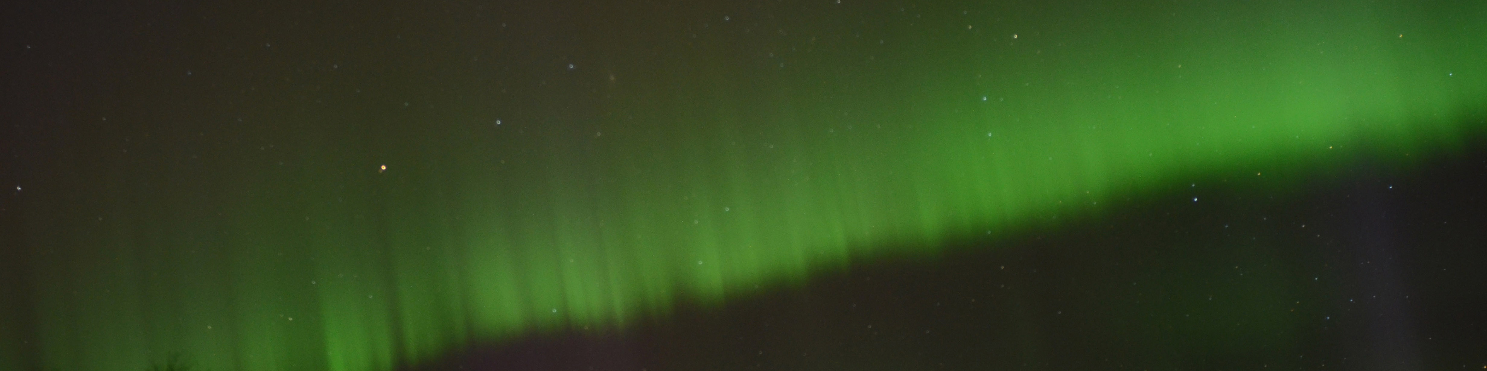 A band of Northern Lights Activity