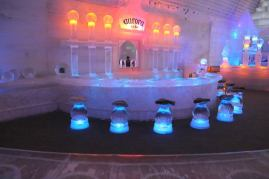Ice bar at the Ice Museum in Alaska