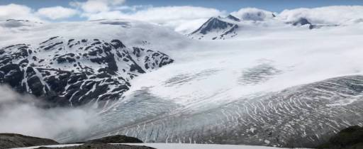 Photo of the Harding Ice Field Alaska on Gondwana Ecotour's Glaciers & Grizzlies Adventure.