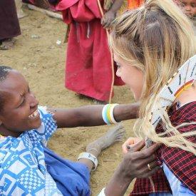Visiting with the Maasai