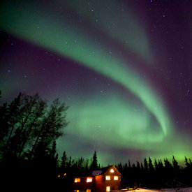 Rest by the Fireplace While Aurora Viewing is Just Steps from Your Door