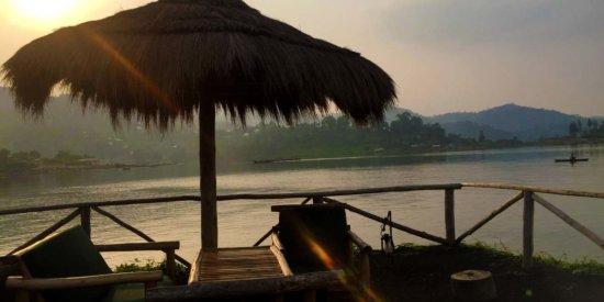 Our breakfast spot at Lake Kivu