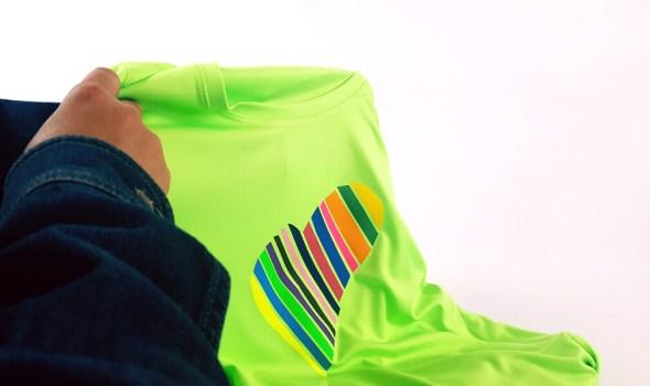 T-shirt personalization using Heat Transfer Vinyl