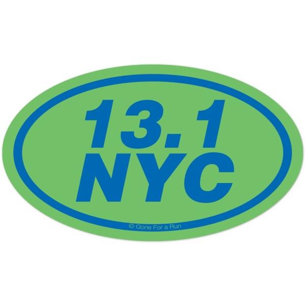 13.1 Nyc Oval Car Magnet Runners Marathon